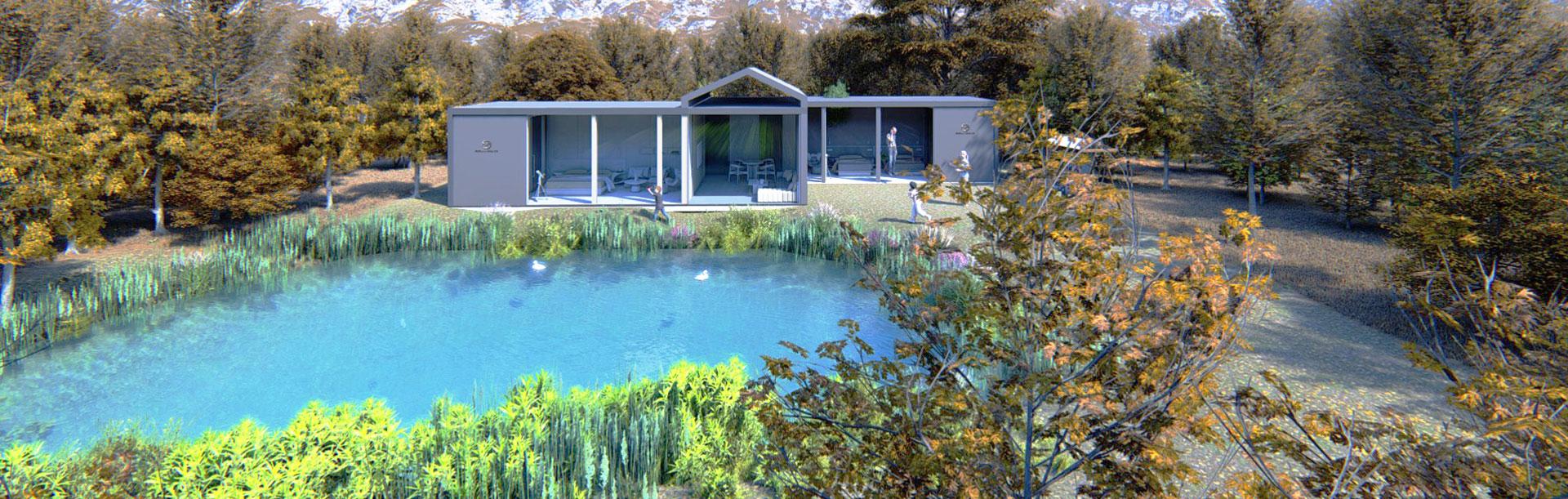 一窗一湖一林,别墅与田园风格的完美融合