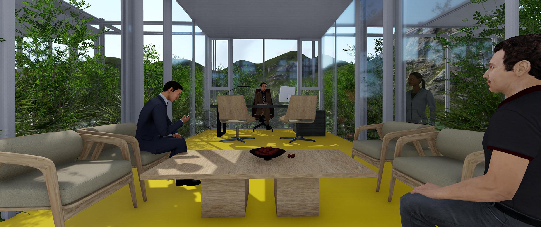 花园式办公新体验,一人一窗一景